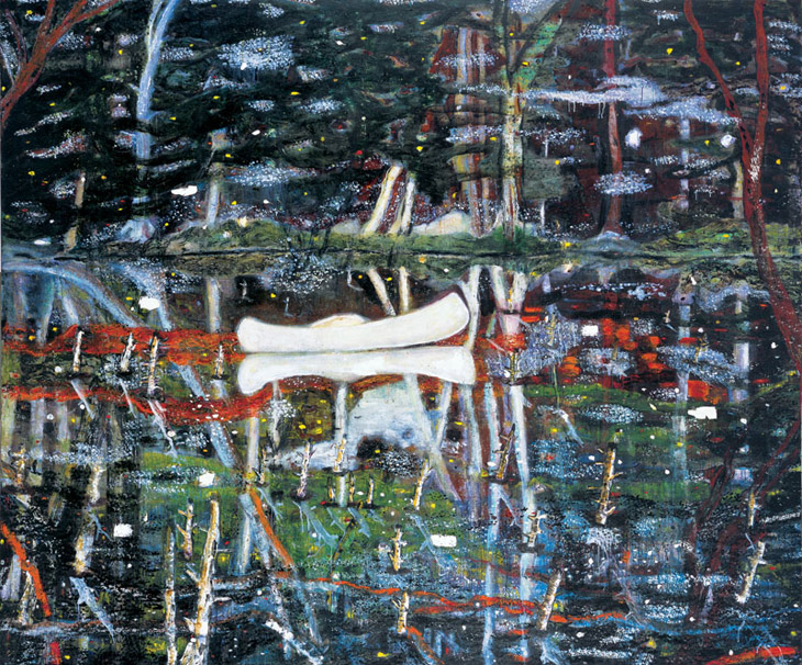 peter-doig-white-canoe